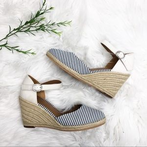 8dfda294f3e Susina Shoes - Susina- Lily Ankle Strap Wedge Sandal- Size 8.5